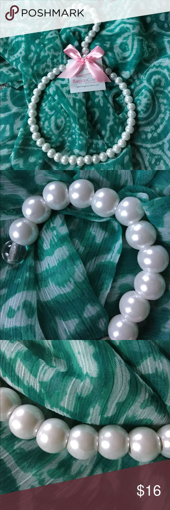 Fun Pearl hanging scarf holder Hang scarves, necklaces or other items from this fashion forward faux pearl holder. Great gift for Bridal Showers, Graduation, Sweet 16, Bat Mitzvahs, Communions, Birthdays ! Accessories