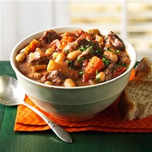 Wintertime Braised Beef Stew Recipe -This easy beef stew has a deep, rich taste. Since it's even better a day or two later, you may want to make a double batch. —Michaela Rosenthal, Indio, California