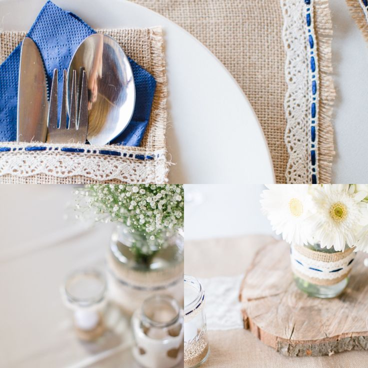 Rustic farm style wedding with hessian and lace. Done by Blushing Rose.