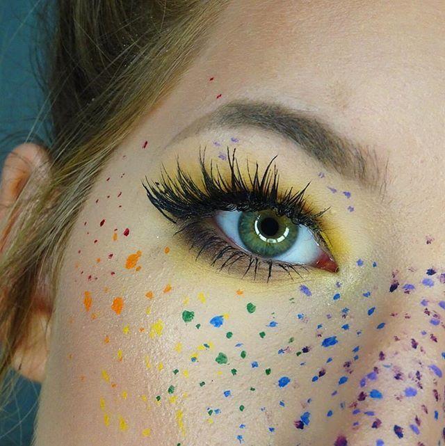 Yellow eyeshadow