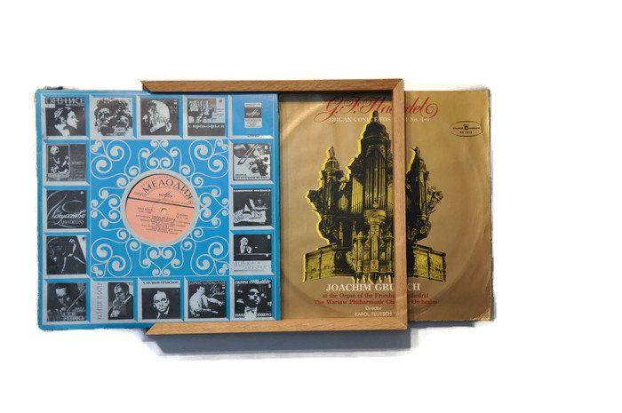 Vinyl Record shelf Record holder Vinyl holder by LumiWood