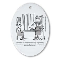 Myers_Briggs_Scarecrow Oval Ornament for