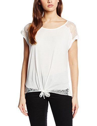 Naf Naf Oblondy, T-Shirt Femme^Femme, Écru (0333 Écru), FR: 40 (Taille Fabricant: XL): Tweet