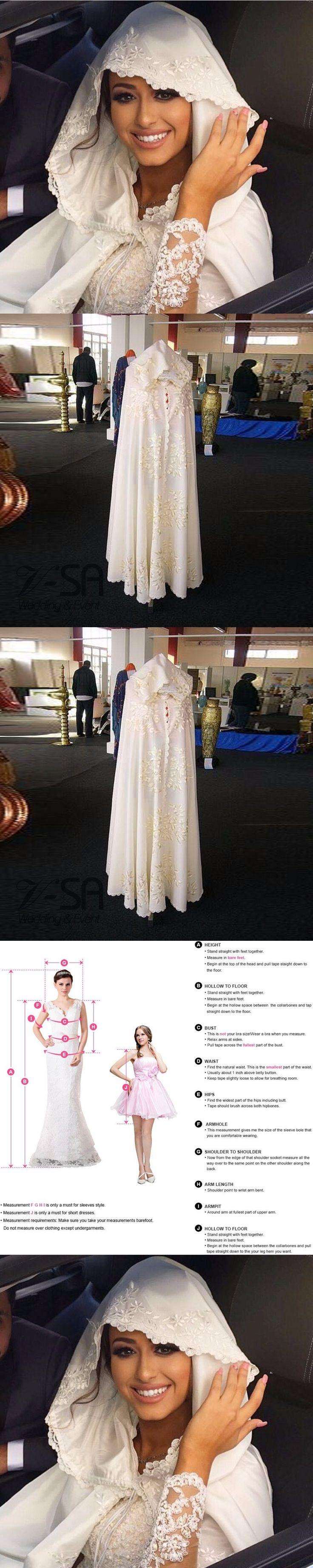 Princess Muslim Women Bridal Cap Embroidery Wedding Jacket Islamic Hijab Custom Made Luxury Shawl For Wedding 2017