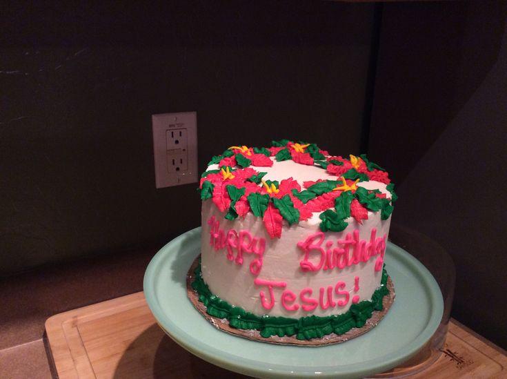 Poinsettia cake Christmas 2017