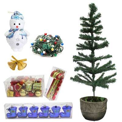 This an exclusive Do It Yourself hamper from FNP. Send this amazing combo of Christmas tree, lights, snow man, bells and other decoratives to your loved ones to delight them. http://www.fnp.com/flowers/christmas/christmas-decorations/diy-christmas-decorative/--clI_2-cI_1936-pI_24913-pCI_1148-i_24527.html