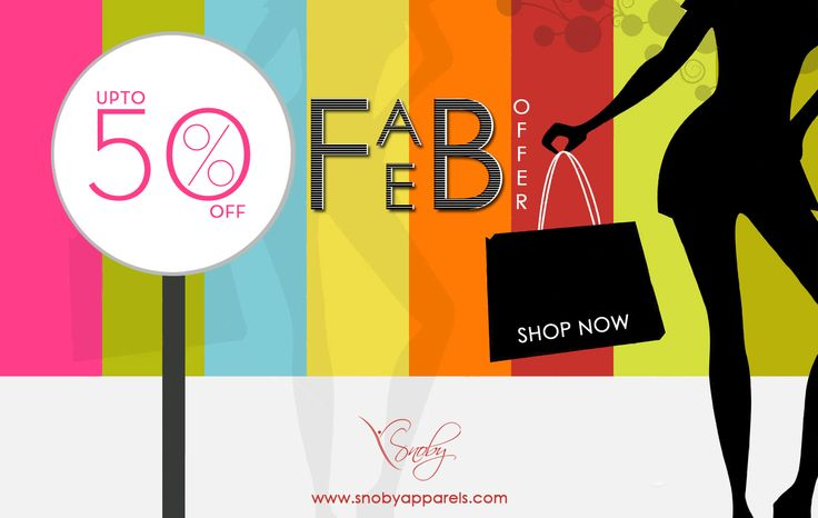 """Get upto50% off on women's wear, men's wear, #fashion accessories and home décor products. Don't miss this """"Feb Fab"""" deal: http://ow.ly/YvrQK"""