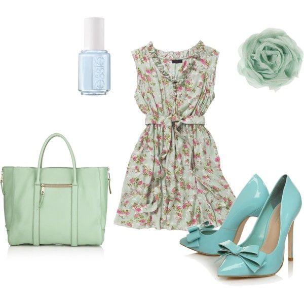 So summery, so cute! on PolyvoreSummer Night, Floral Pastel