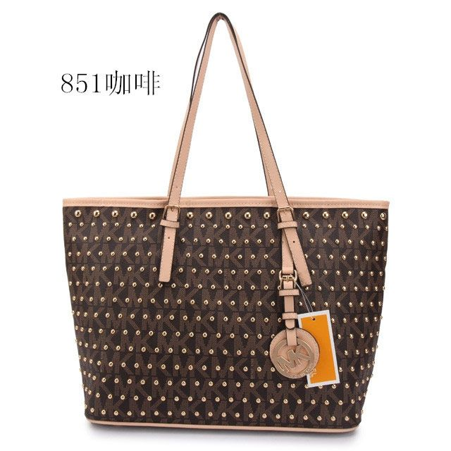 Best Michael Kors Jet Set Travel Studded Logo Large Coffee Totes Popular In  The World