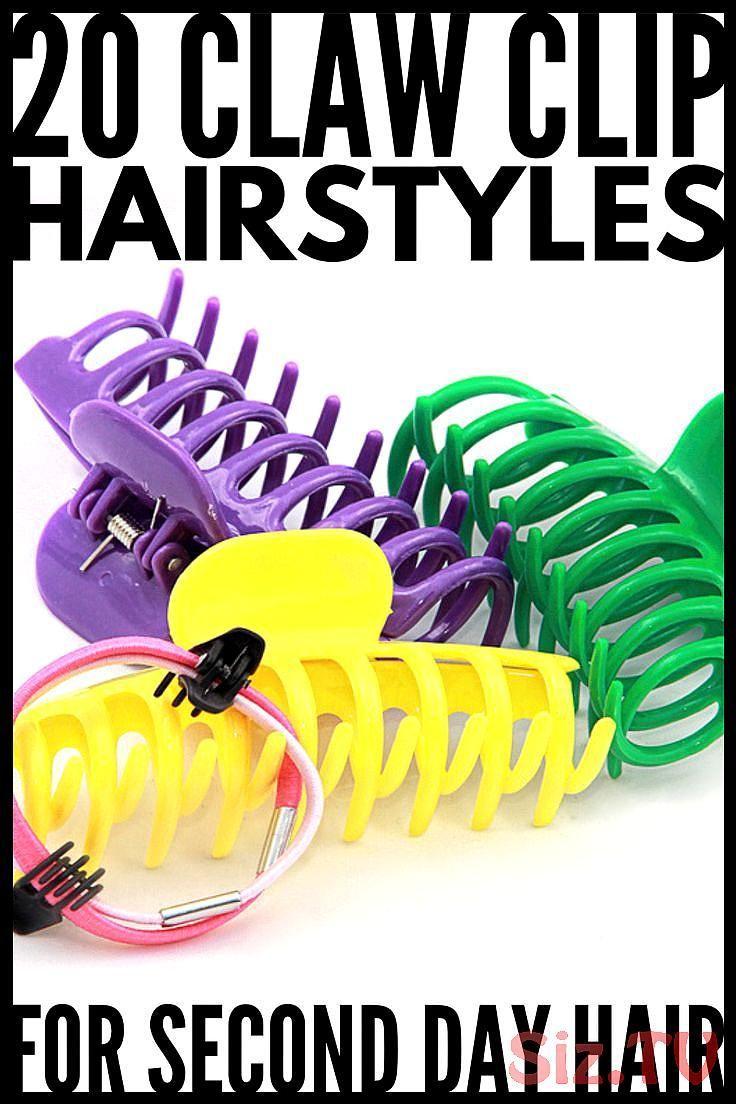 20 Klauen-Clip-Frisuren für alle HaarlängenIst es die 90er oder das Jahr 2019, ob Sie kurze, mittellange oder lange Haare bevorzugen?