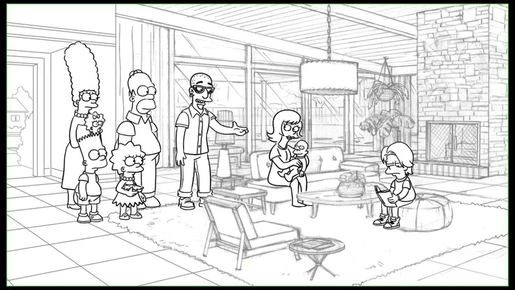 """Animatic from the """"The Day The Earth Stood Cool"""" episode of THE SIMPSONS."""