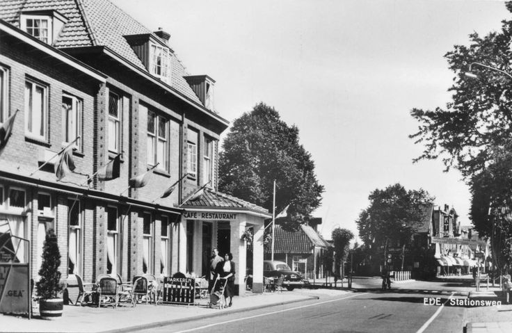 Ede, Stationsweg/Maandereind 1956
