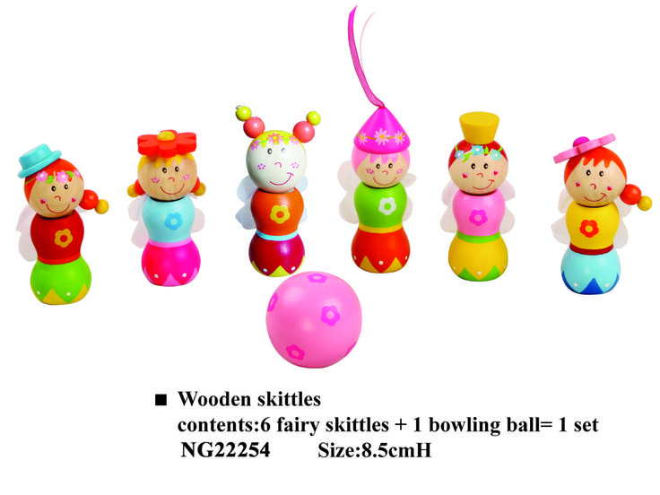 Cheeky Chops Shop  - Wooden Fairy Skittles/ Bowls, $22.00 (http://www.cheekychops.com.au/wooden-fairy-skittles-bowls/)