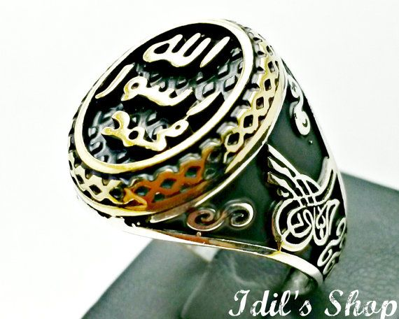 Men's Ring Turkish Ottoman Style Jewelry 925 Sterling by IdilsShop, $110.00