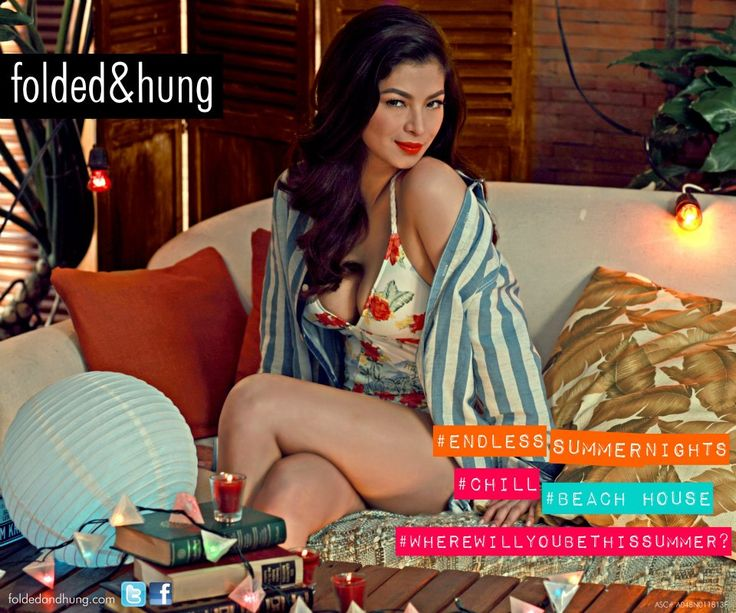 Angel Locsin Folded & Hung Summer 2013 - Angel on Fire http://www.ladysoda.com/fashion-and-you-2/angel-locsin-for-folded-hung-summer-2013/