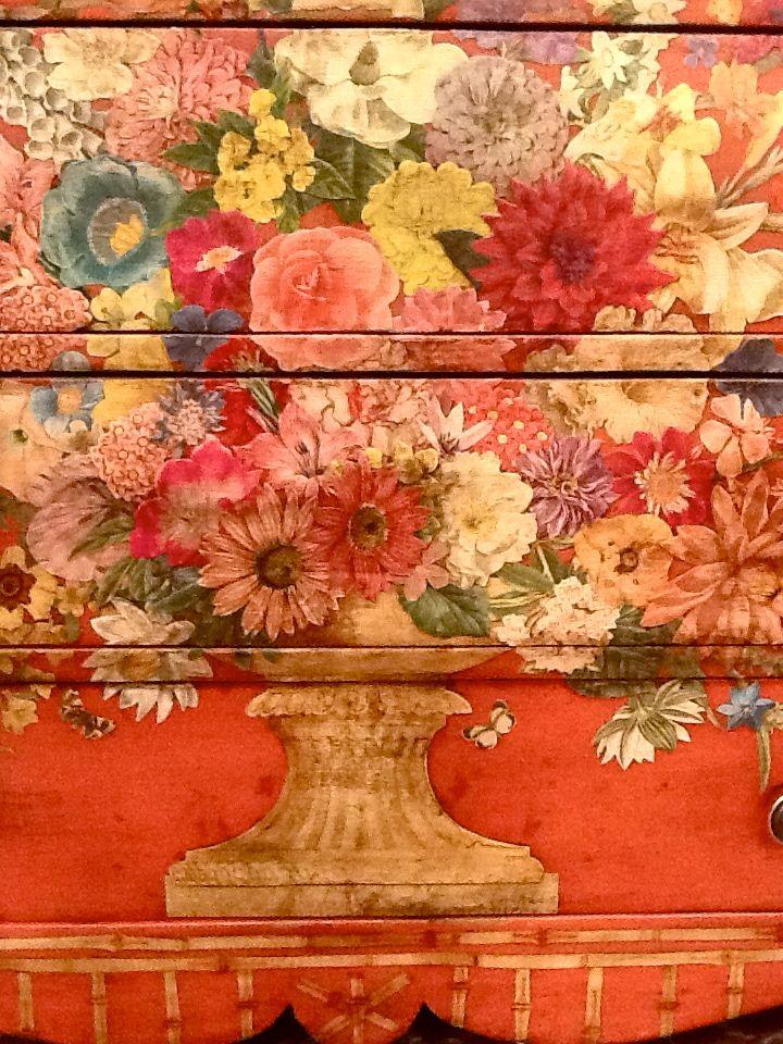 Denise Cerro - dresser decoupage detail