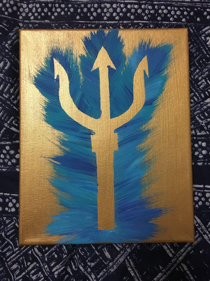 Tri delta trident canvas