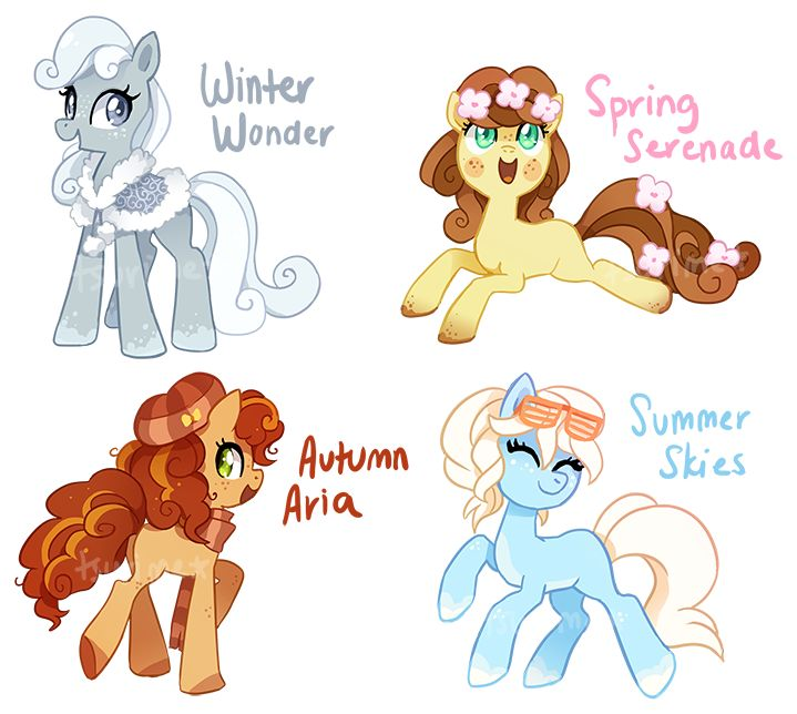 Pony Adoptable Auction - Seasonal Ponies (CLOSED) by tsurime on DeviantArt