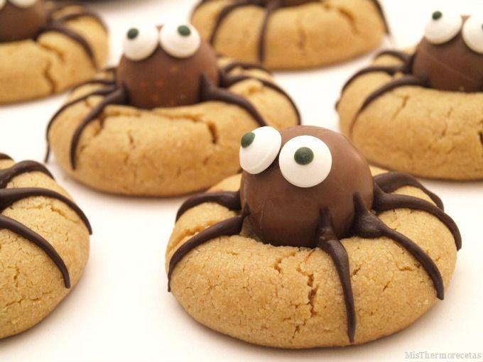 Halloween: Arañas de mantequilla de cacahuete - MisThermorecetas