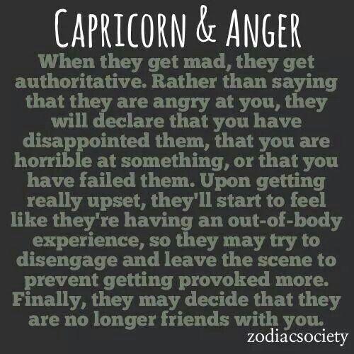 Guilty....Capricorn anger