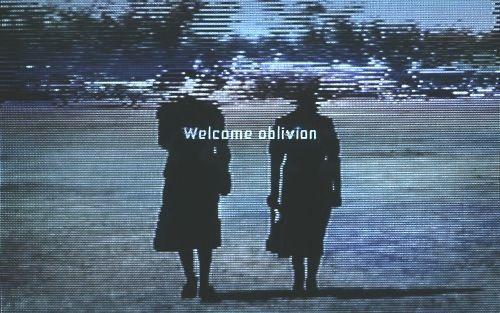 neuromaencer:   robsheridan:  How to destroy angels: Welcome oblivion- analog VHS glitch art by HTDA / Rob Sheridan