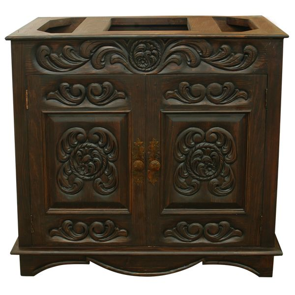 1369 best images about rustic mexican casona on pinterest for Colonial style bathroom vanities