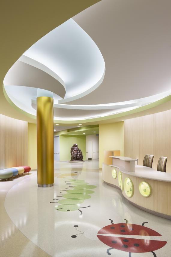 Lobby and reception, Elizabeth Seton Pediatric Center, Yonkers, N.Y. Copyright Chris Cooper.