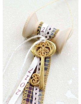 Γούρι Spool Checked Ribbon & Wish Key