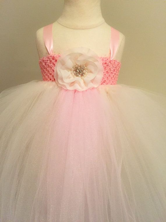 Hey, I found this really awesome Etsy listing at https://www.etsy.com/listing/217421177/blush-pink-and-ivory-flower-girl-dress