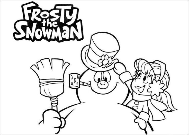 27 best frosty the snowman images on pinterest snowman for Frosty the snowman coloring pages