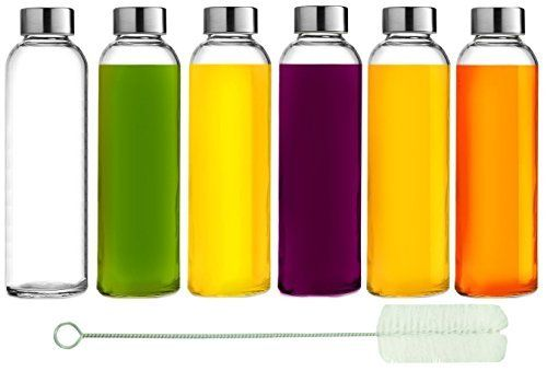 Why settle for a cheap alternative when you can have a premium set of reusable glass water bottles that will last you a lifetime? Unlike cheap plastic water bottles that leech chemicals, toxins and odors, Brieftons Glass Water Bottles are food safe and completely free of lead, cadmium, BPA &... more details available at https://www.kitchen-dining.com/blog/travel-to-go-drink-ware/product-review-for-brieftons-glass-water-bottles-6-pack-18-oz-stainless-steel-leak-proof-lid-p