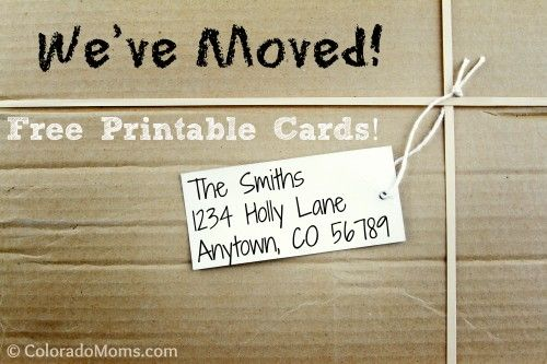 We've Moved Free Printable Cards!