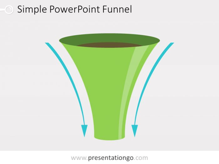 Simple Funnel Diagram For Powerpoint