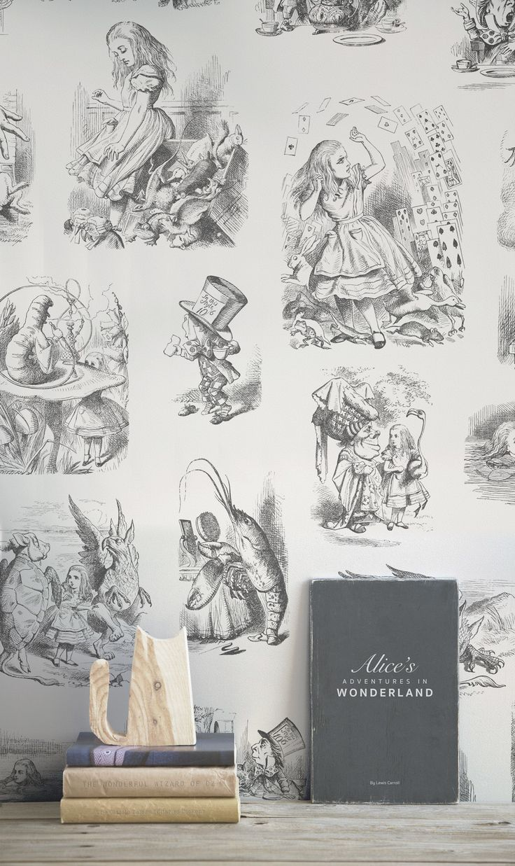 Fall in love with these timeless illustrations from Alice in Wonderland. Detailed yet delicate, this illustrated wallpaper design is perfect for small spaces or children's bedrooms. Bringing a touch of imagination and creativity to any room it touches.