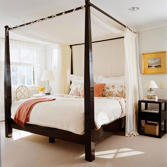 canopy bed against the - photo #15