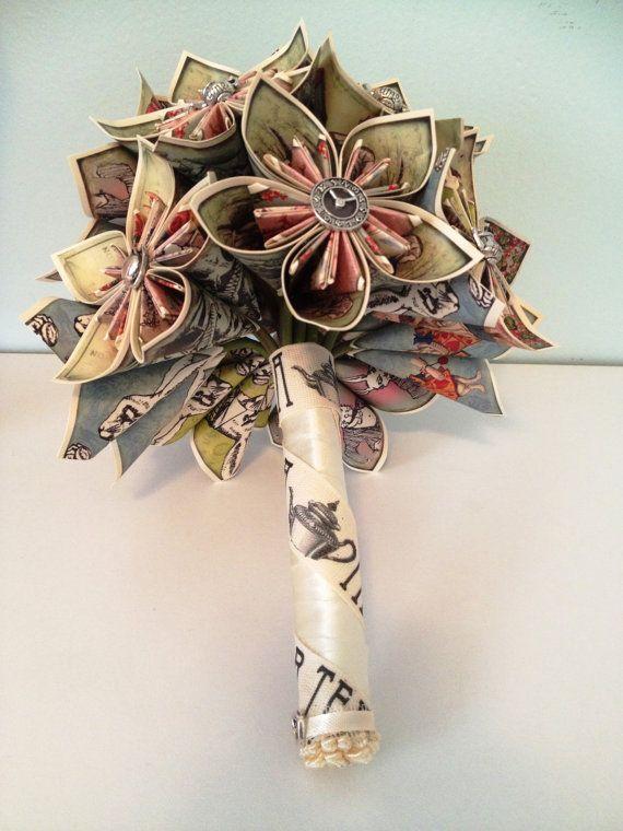 Alice In Wonderland Wedding Bouquet by NewZLynn on Etsy