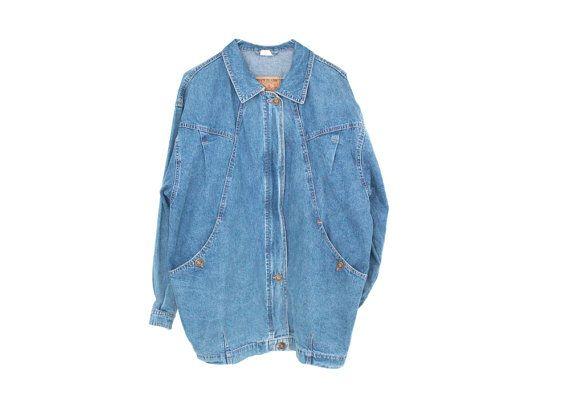 90s denim jacket/coat