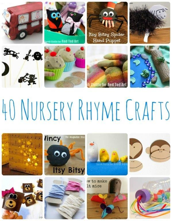 Ilyesmiket megcsinalni magyar mondokakra! 40 Nursery Rhyme Crafts