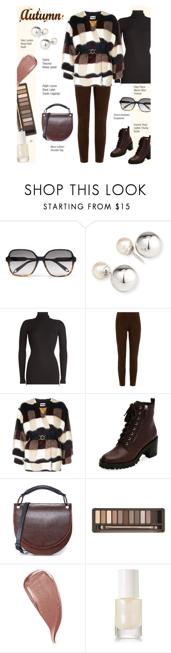 """Untitled #1337"" by louise-stuart ❤ liked on Polyvore featuring Victoria Beckham, Yoko London, Petar Petrov, Ralph Lauren Black Label, Hache, Gianvito Rossi, Marni, Urban Decay, Kevyn Aucoin and rms beauty"