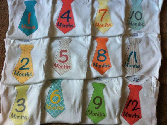 Baby Monthly Stickers - Milestone Month Sticker for Onesie or Scrapbook - Twelve 4