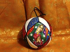 Virgen de Guadalupe ornament (jcaldico) Tags: christmas holiday ornament ornaments quilted patchwork kimekomi
