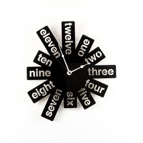 Large Wall Clock Laser Cut Acrylic Black Clock Modern Graphic Numbers Silver Hands Unique Wall Clock Funky Decor Housewarming Gift Idea