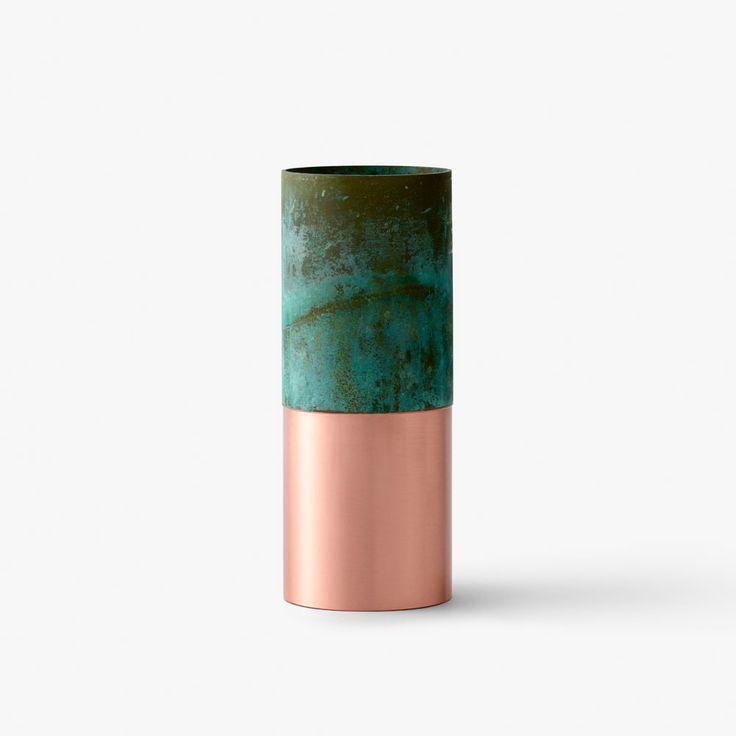 &Tradition - True Colour Vase - Green Copper
