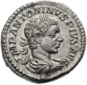 "In the Roman currency system, the denarius (plural: denarii) was a small silver coin first minted in 211 BC. It was the most common coin produced for circulation but was slowly debased until its replacement by the antoninianus. The word denarius is derived from the Latin dēnī ""containing ten"", as its value was 10"