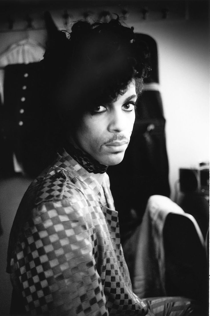 Prince backstage during the 1980-81 Dirty Mind tour