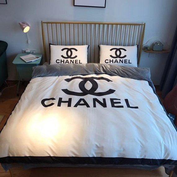 Coco Chanel 1 Duvet Cover Bedding Set, Coco Chanel Bedding