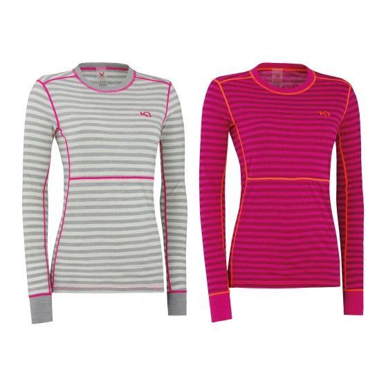 Het Ulla #thermoshirt met lange mouwen is een van merino wol gemaakt shirt van @karitraa. Dit vormt een perfecte basislaag tijdens winterse activiteiten.