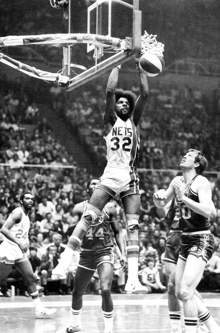 best images about crafty cagers hey dr j julius dr j erving mvp of new york nets championship dunks two of his 31 points as denver nuggets byron beck looks on hopelessly from down below at