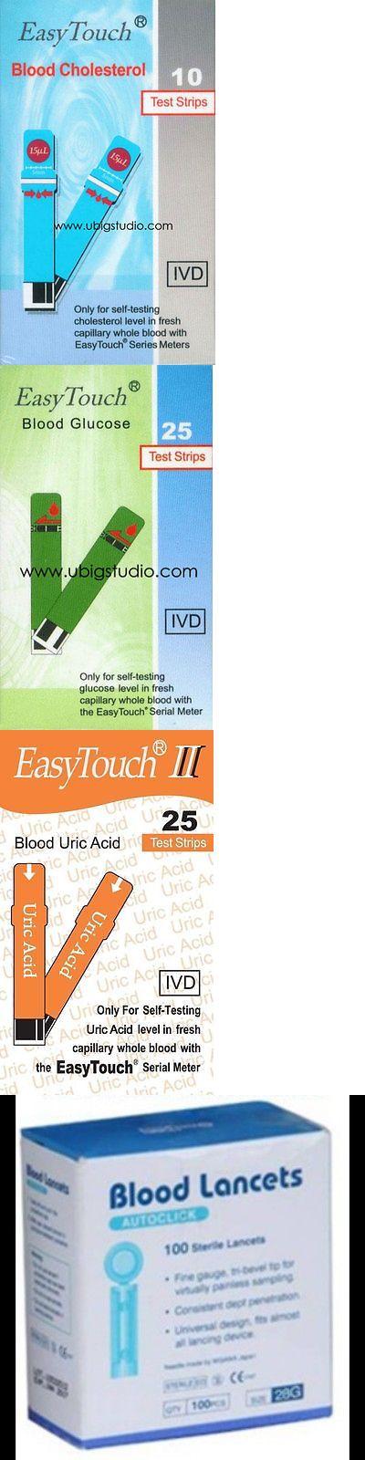Cholesterol Testing: Complete Strips Pack For Gcu Tester Device: Glucose Cholesterol Uric Acid Lancet -> BUY IT NOW ONLY: $77 on eBay!