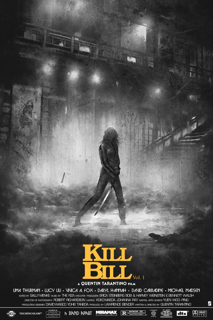 This Moody Kill Bill Vol. 1 Poster Is Bloody Brilliant